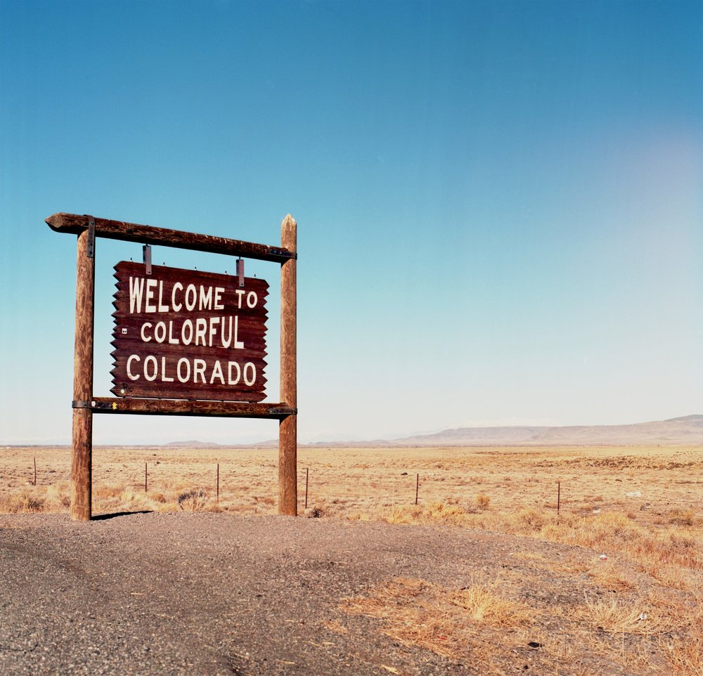 Colorado Community College Bid sign image