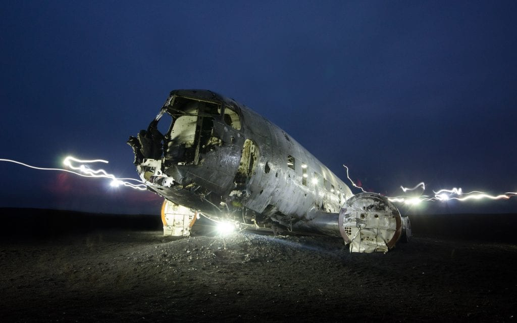 picture of a crashed plane